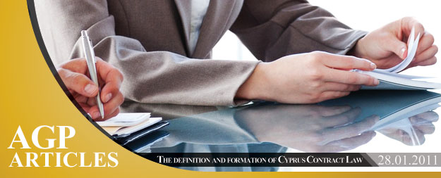 The definition and formation of Cyprus Contract Law