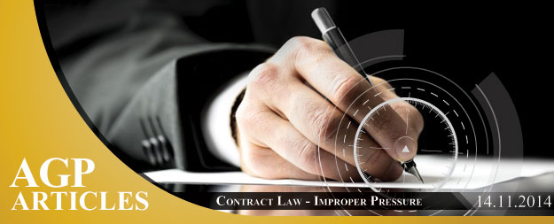 Cyprus Contract Law | Improper Pressure