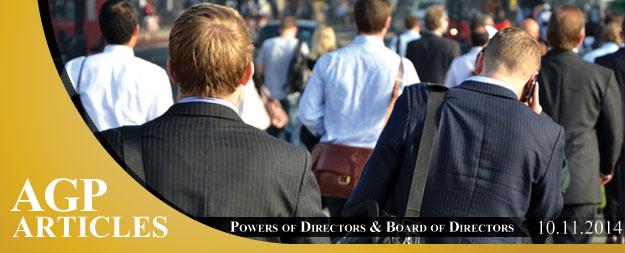 Powers of Directors & Board of Directors of Cyprus Companies
