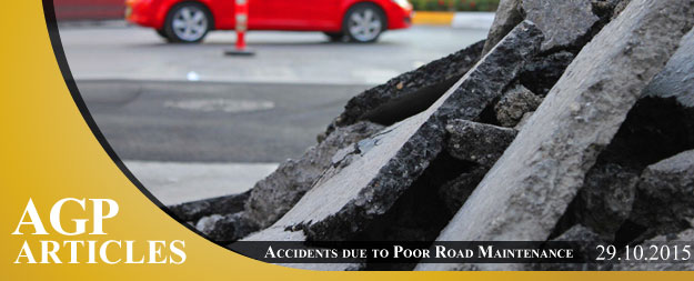 Accidents caused by poor road maintenance in Cyprus