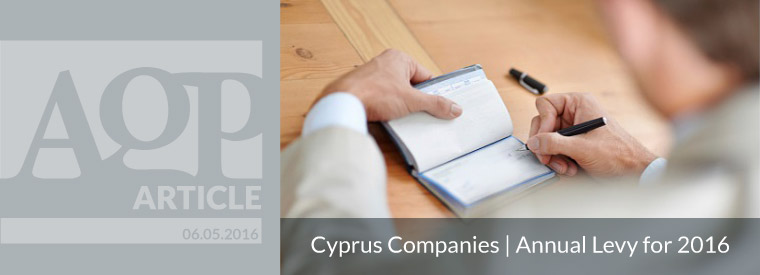 Cyprus Companies | Annual Levy for 2016
