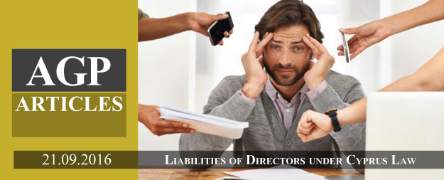 Liabilities of Directors under Cyprus Law