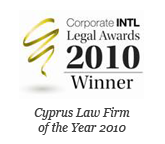 Corporate INTL Global Awards 2010 – Corporate Governance Law Firm of the Year Cyprus