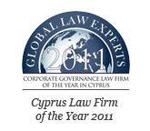 GLOBAL LAW EXPERTS 2011 – Cyprus Law Firm of the Year