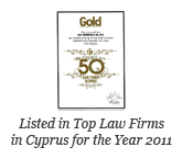 CYPRUS TOP 50 LAW FIRMS 2011 – Gold Magazine