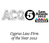 ACQ5 Law Awards 2012 – Winner Cyprus Law Firm of the Year