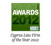Standard Chartered Finance Awards 2012 - Cyprus Law Firm of the Year