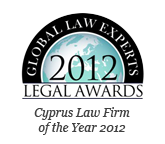 Global Law Experts 2012 Awards – Cyprus Law Firm of the Year