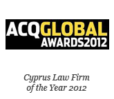 ACQ GLOBAL Awards 2012 - Cyprus Law Firm of the Year