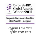 Corporate INTL Global Awards 2011 – Corporate Governance Law Firm of the Year Cyprus