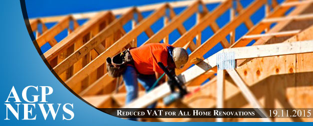 Reduced VAT rate for all home renovations