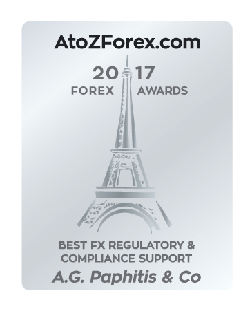 Winner of Best FX Regulatory & Compliance Support, AtoZForex.com Awards 2017