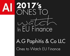 "AI ""Ones to Watch EU Finance"" Awards 2017"