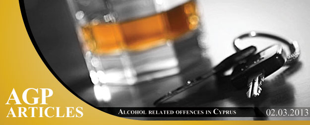 Alcohol related offences (DUI, DWI, DDD) in Cyprus