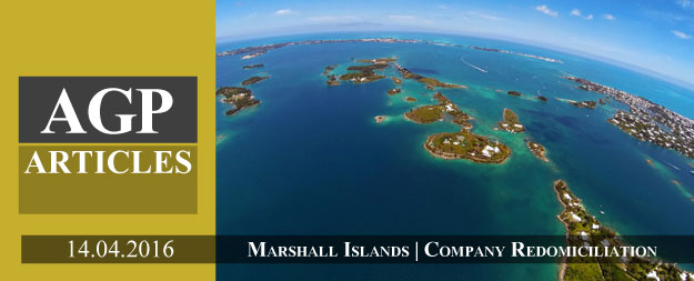 Redomiciliate your Company to the Marshall Islands
