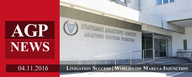 Litigation Success | Worldwide Mareva Injunction