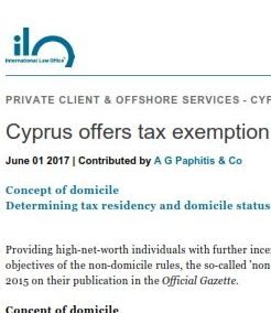Cyprus offers tax exemption on worldwide income