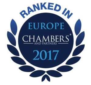 Ranked in Chambers Europe (Cyprus) 2017 – Dispute Resolution