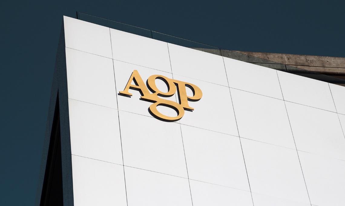 AGP logo building
