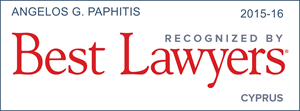 Angelos Paphitis Best Lawyers 2016 Award