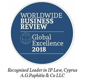 AGP & Co – Recognised Leaders in IP Law, Cyprus – Worldwide Business Review award 2018