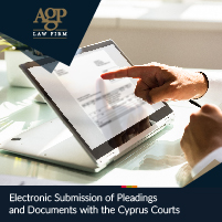 Electronic submission Cyprus Courts agp law firm